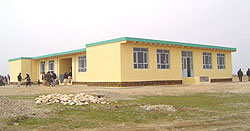 This is what a new school looks like! This is our first school. Mohmandan.